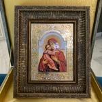 Икона в багете Владимирская Божья Матерь
